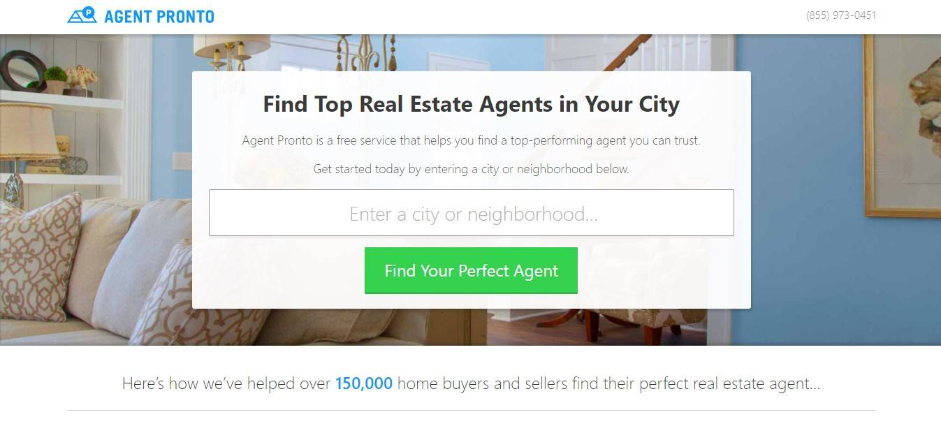 Landing Page Example - Agent Pronto
