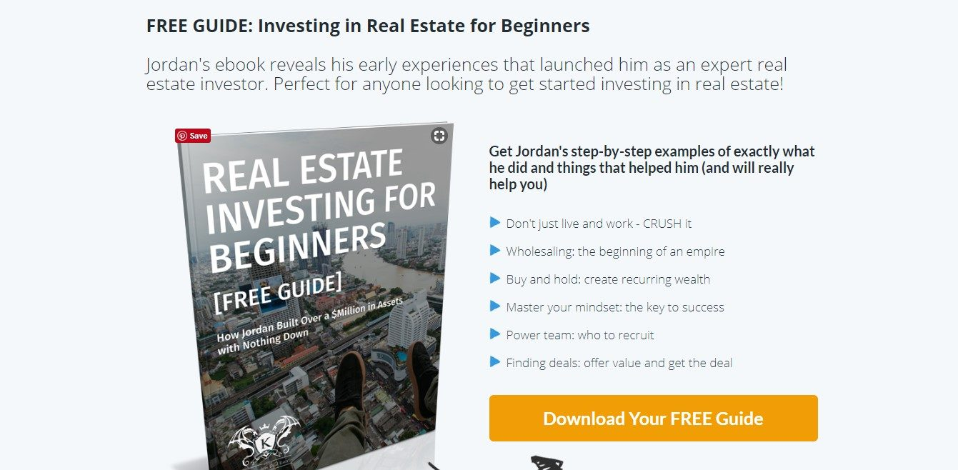 Landing Page Examples - The Kingdom Real Estate