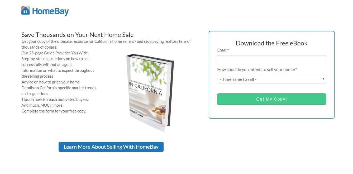 Landing Page Examples - HomeBay