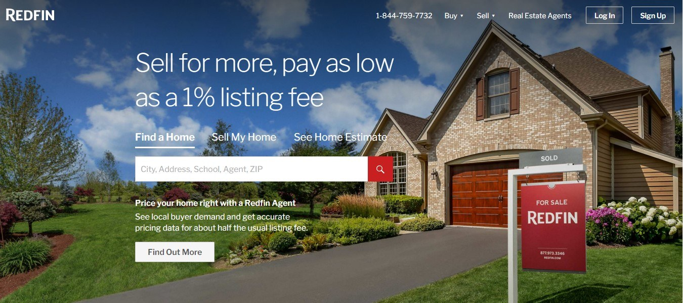 Landing Page Examples - RedFin
