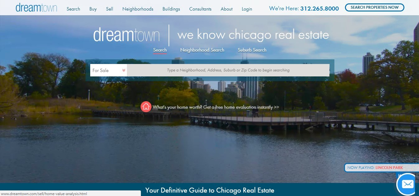 Landing Page Example - Dream Town
