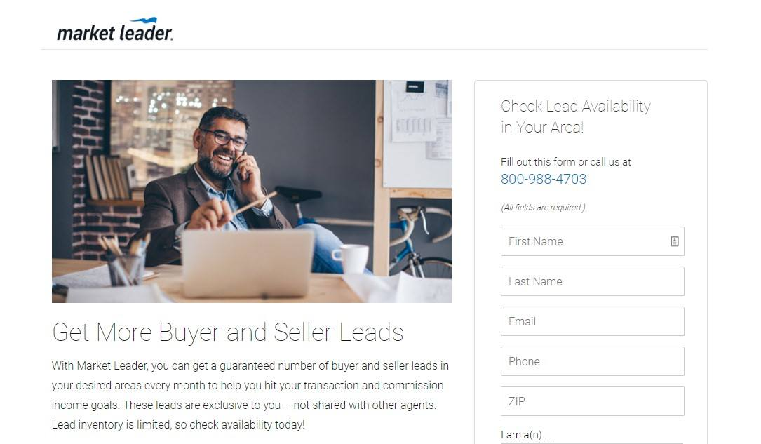 Landing Page Examples - Market Leader