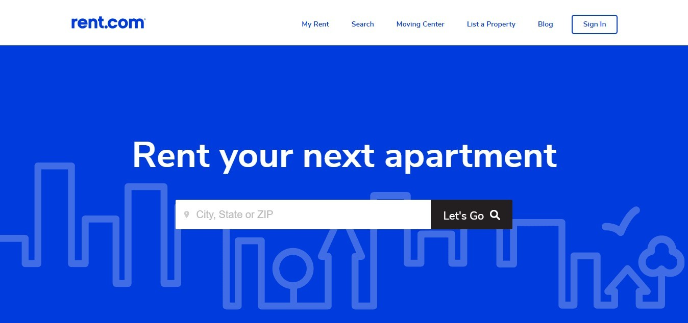 Landing Page Examples - Rent.com