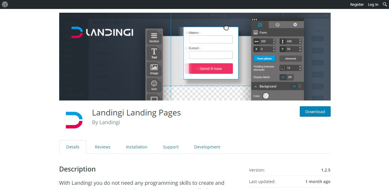 Landingi Landing Page Platform WordPress Plugin