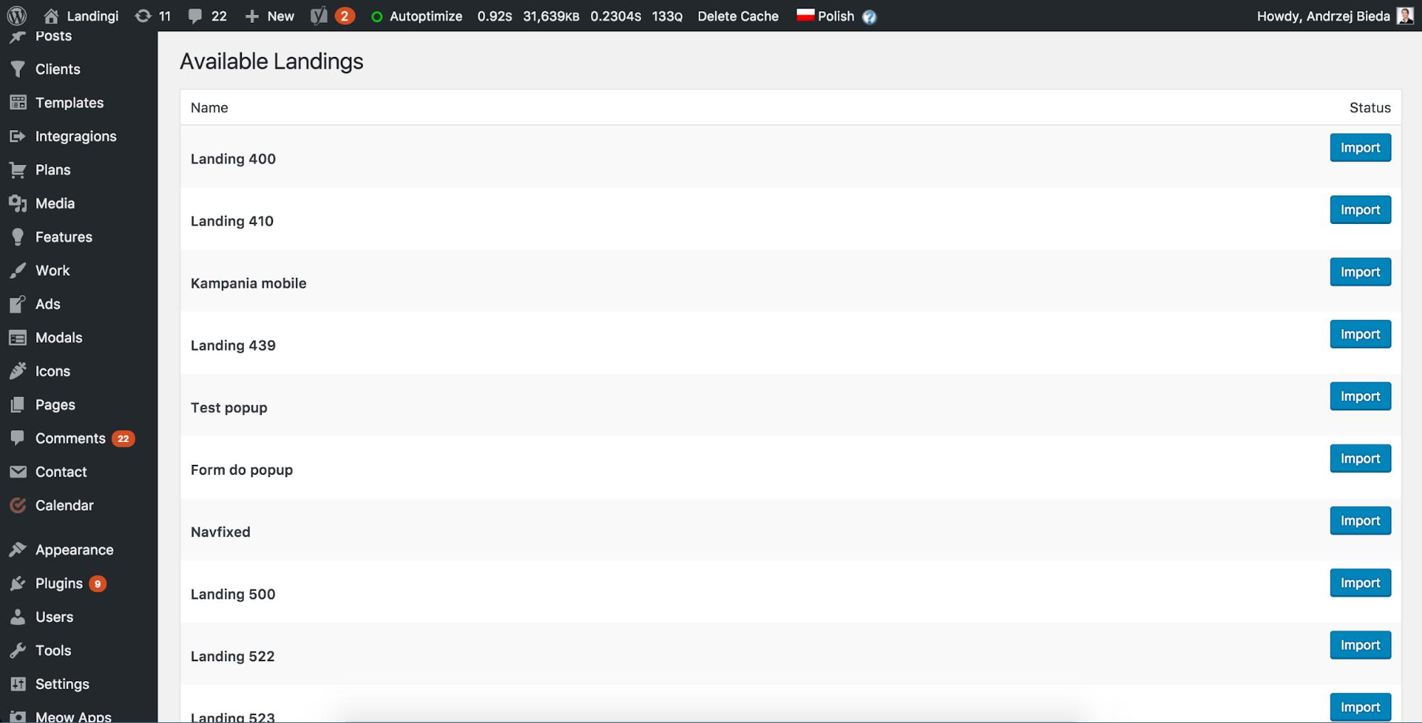 Landingi Landing Pages WordPress Plugin