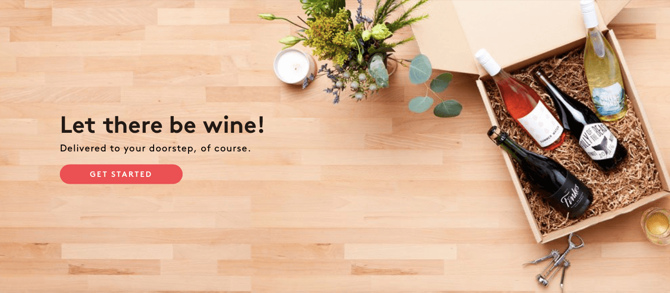 Ecommerce Landing Page Example Winc