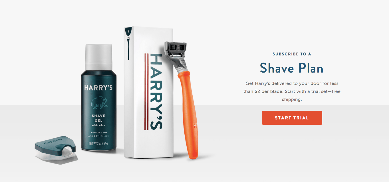 Ecommerce Landing Page Example Harrys
