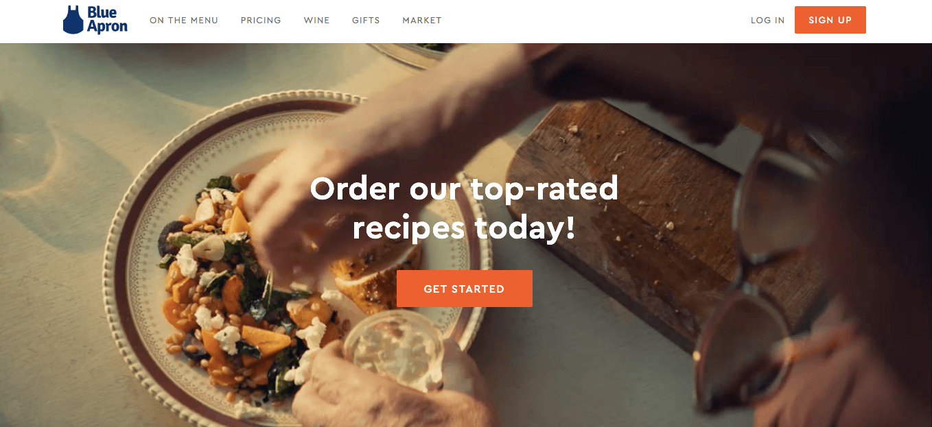 Ecommerce Landing Page Example Blue Apron