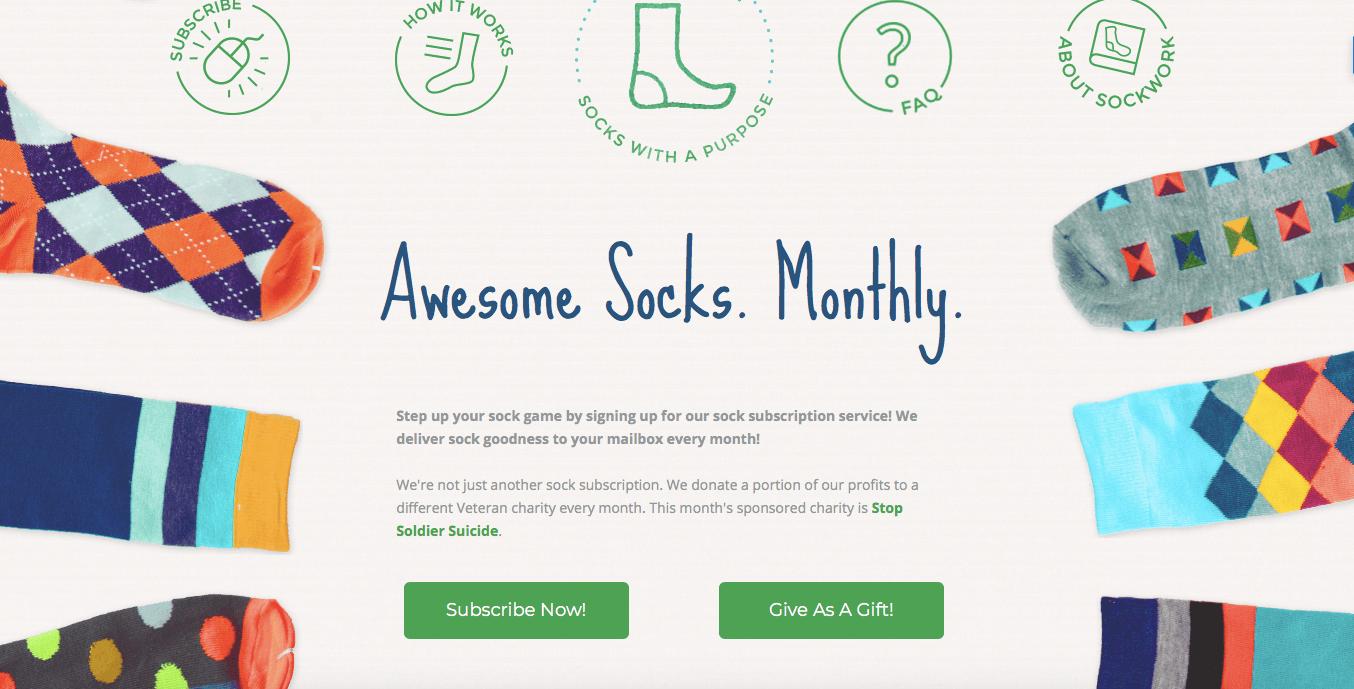 Ecommerce Landing Page Example Sockwork