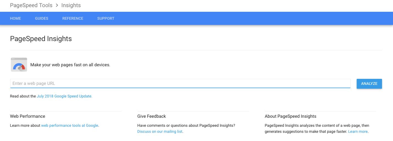 Google Page Speed-tools