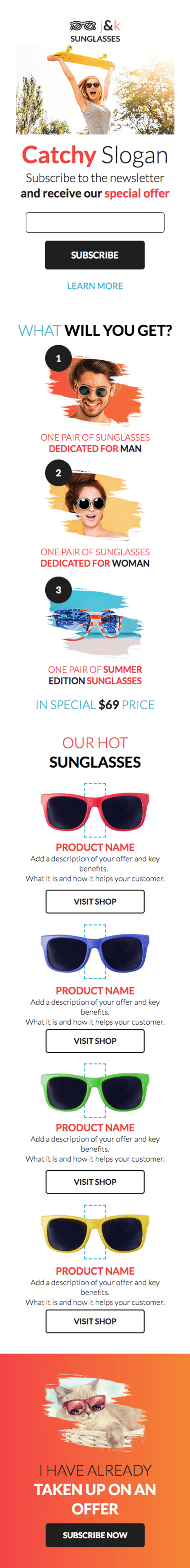 Sunglasses Shop Newsletter
