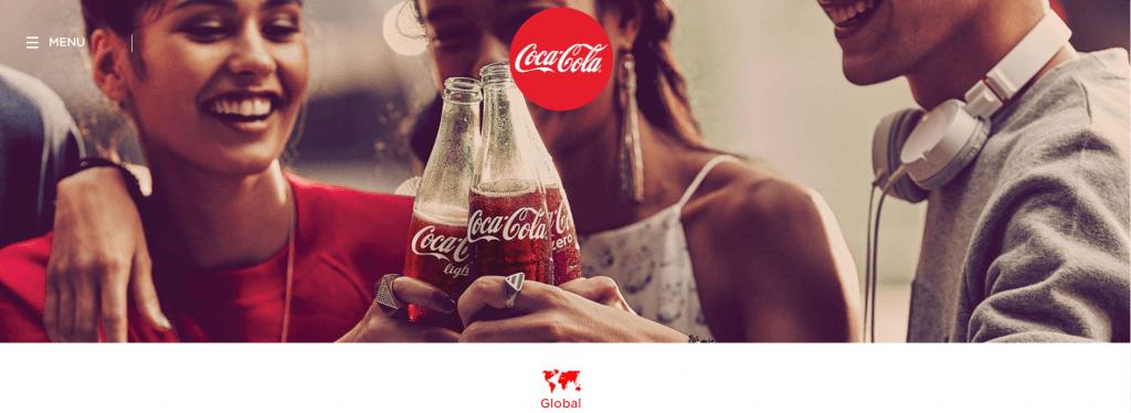 Smiling Coca-Cola Landing Page