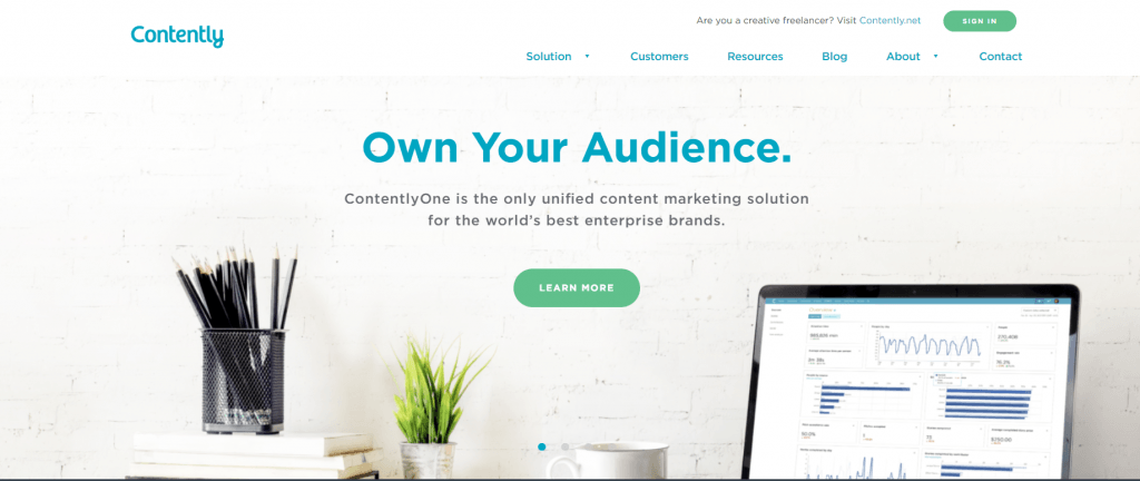Contently Landing Page
