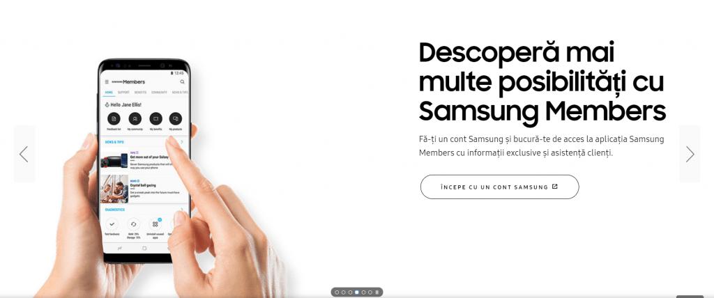 Samsung Members Landing Page