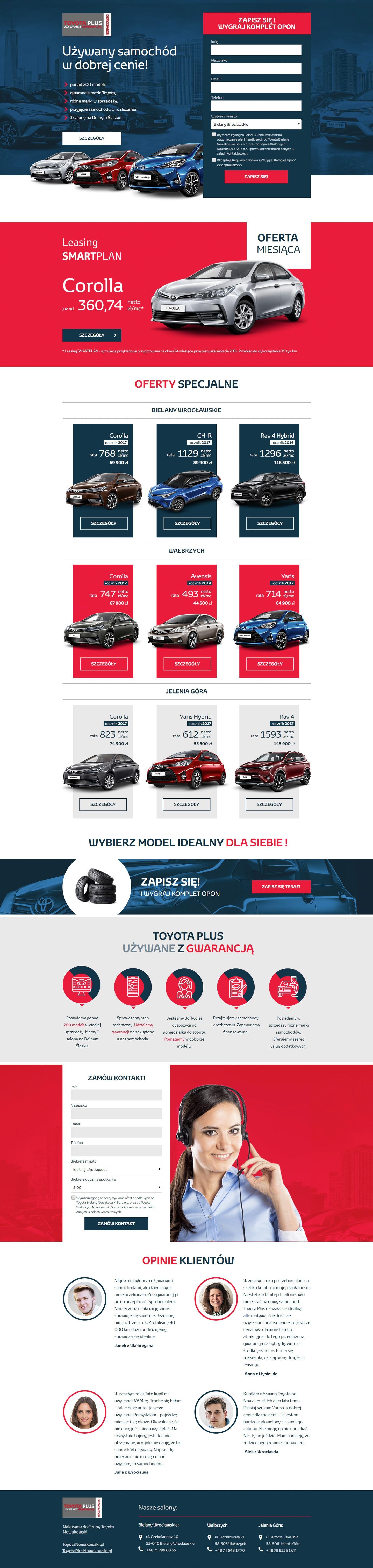 Toyota Plus Landing Page