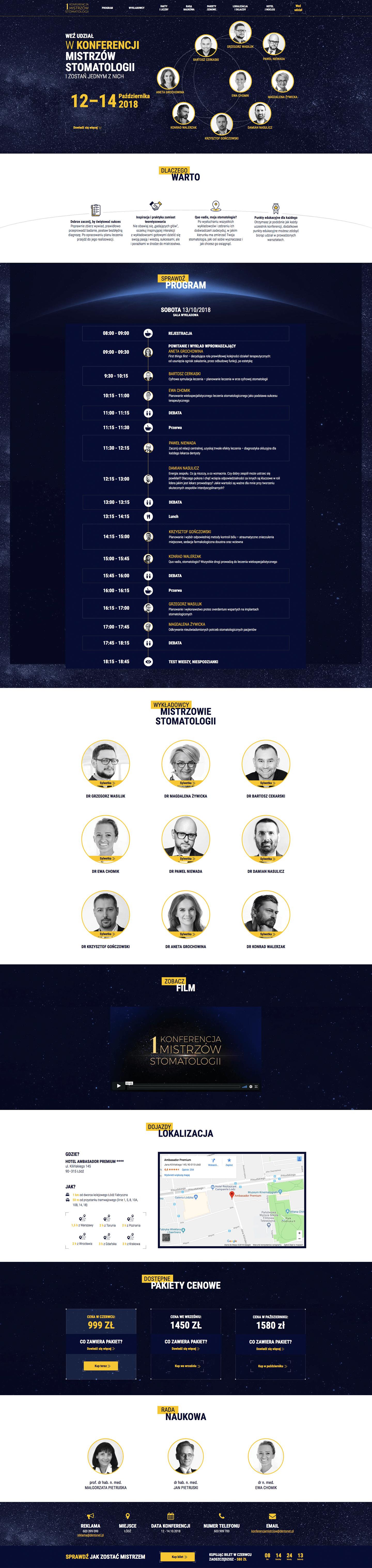 Dentonet Conference Landing Page