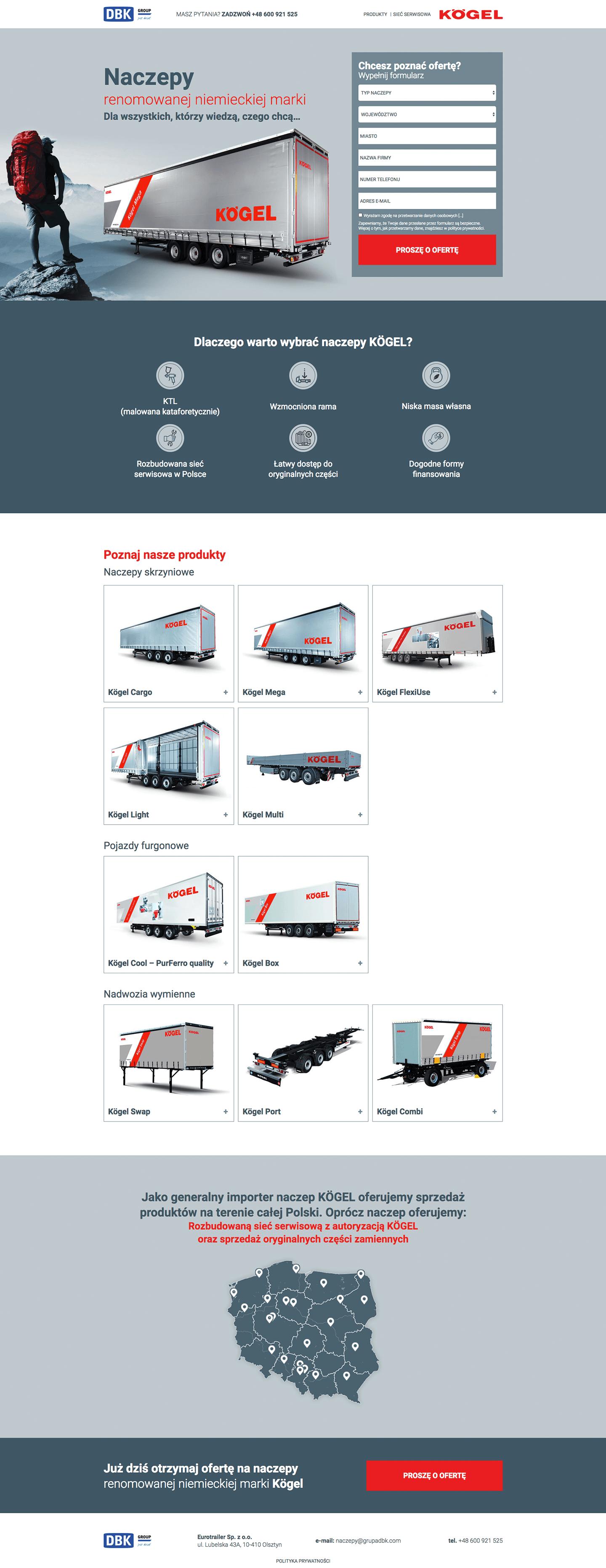 Koegl Semi-Trailers Landing Page