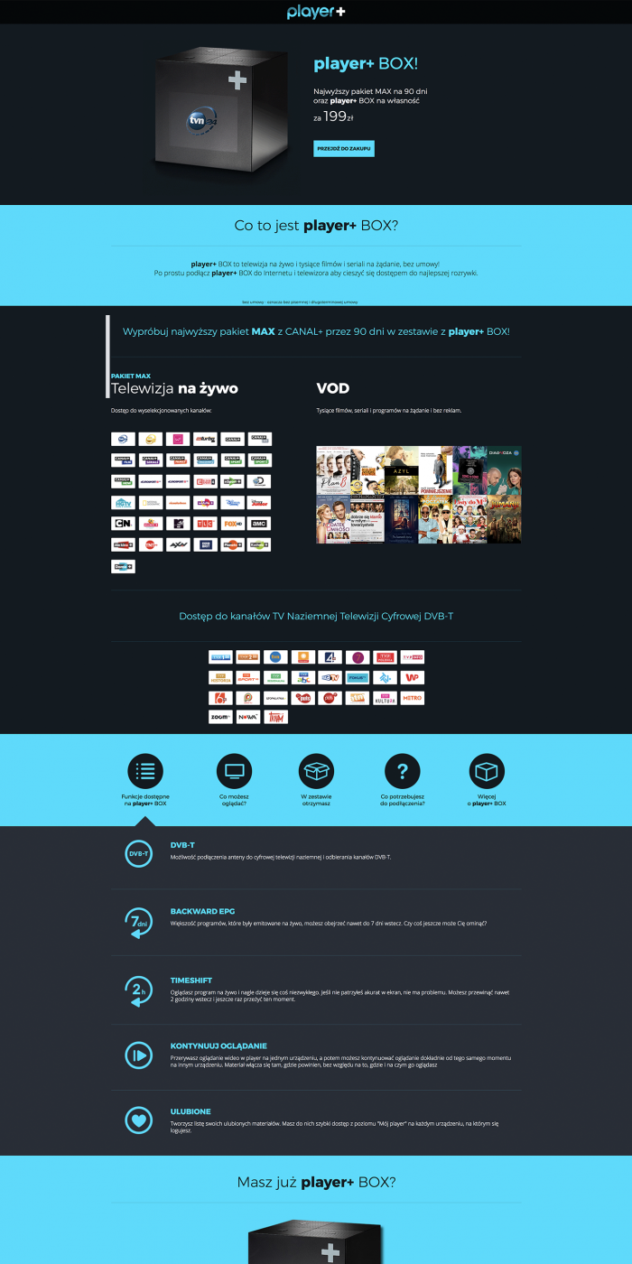 TVN Television Landing Page