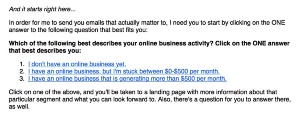 Pat Flynn email screenshot