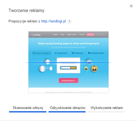 dobry landing page adwords