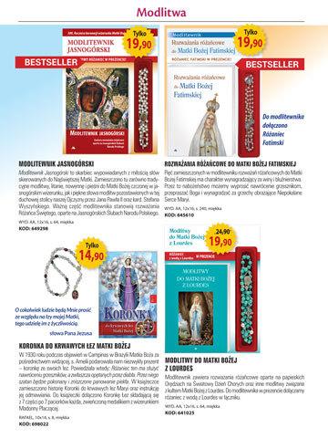 Dewocjonalia, Różańce - Katalog Klubu Książki Katolickiej