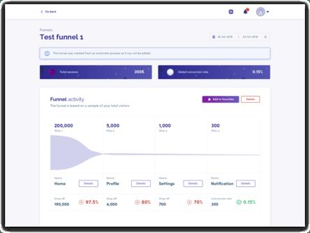Identifica áreas críticas de interacción dentro de tu plataforma y descubre por qué los usuarios deciden irse.