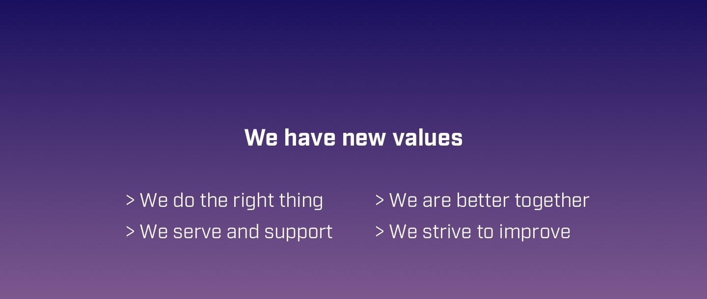 We now have strong and meaningful values in our organisation.