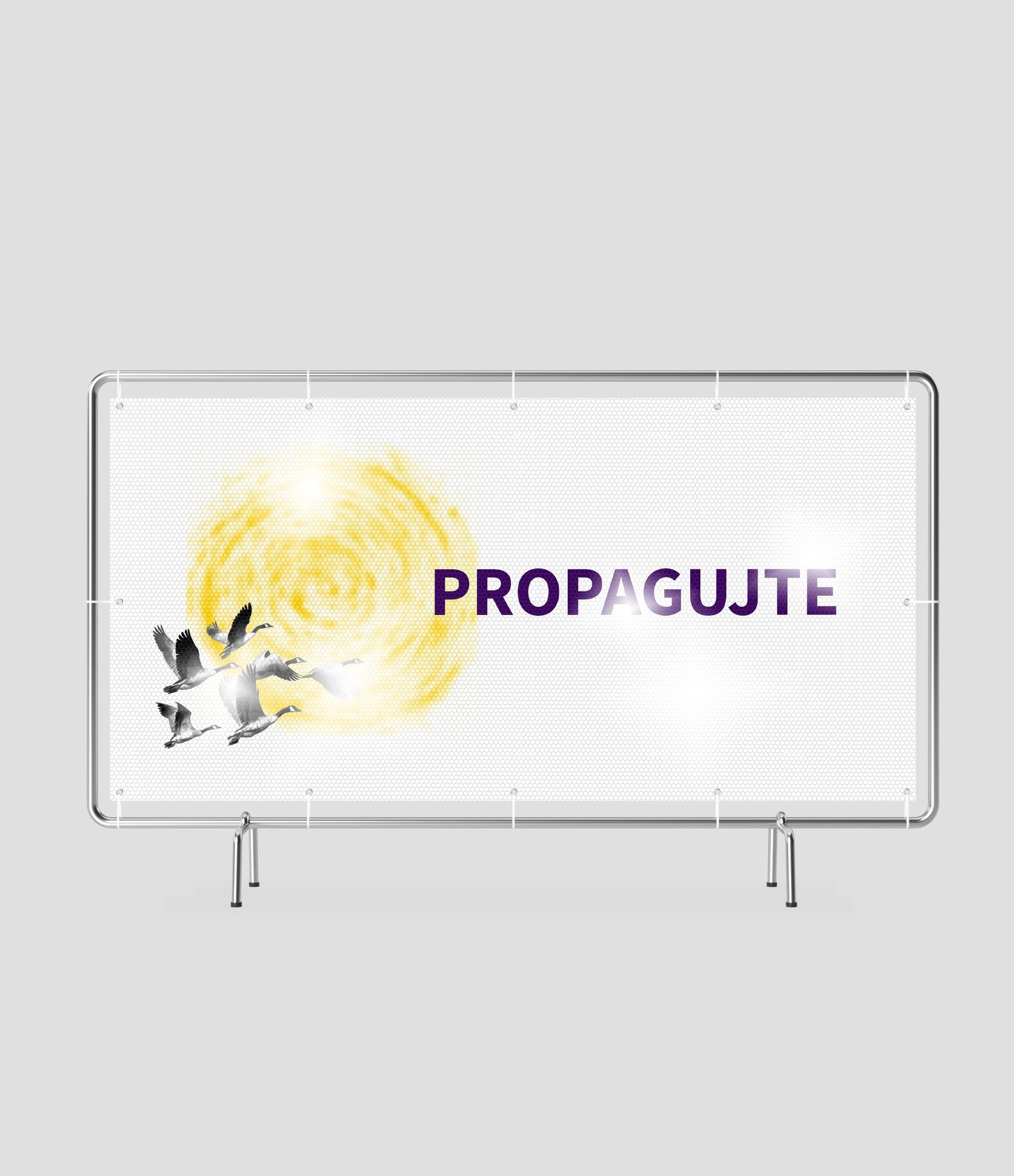 Jednostranný reflexní banner