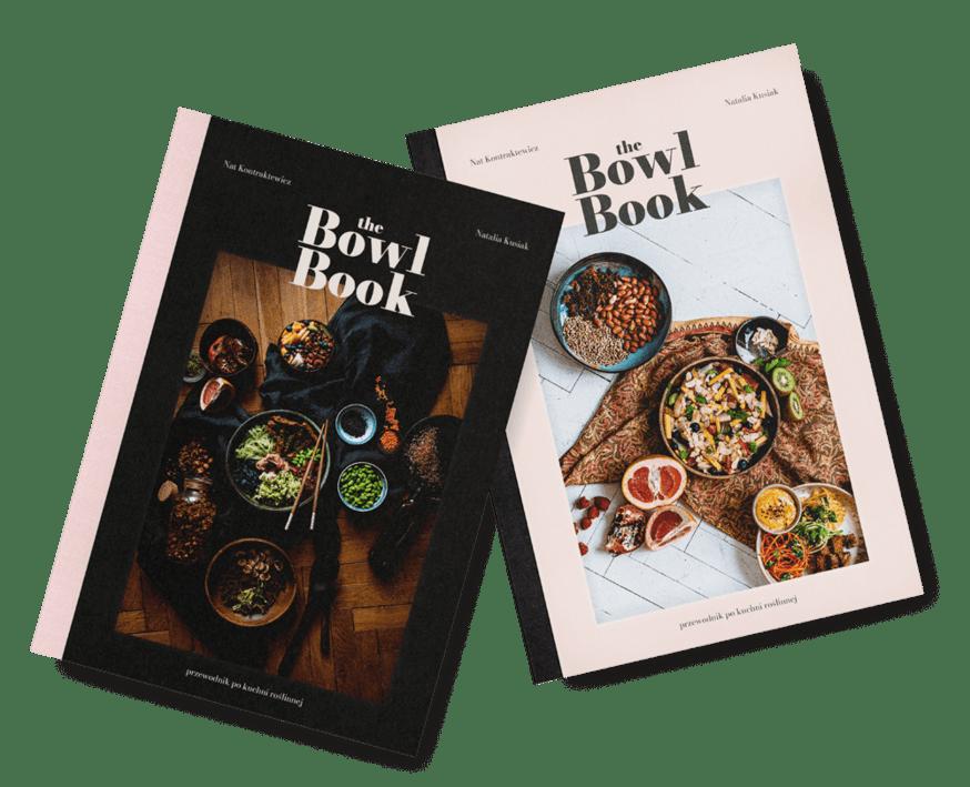 Album kulinarny The Bowl Book już w sprzedaży! Ma dwie okładki, ciemną i jasną, które ozdobią Twoją kuchnię. Przepisy wegańskie i piękne fotografie jedzenia. Buddha bowl, acai bowl, vegan bowls