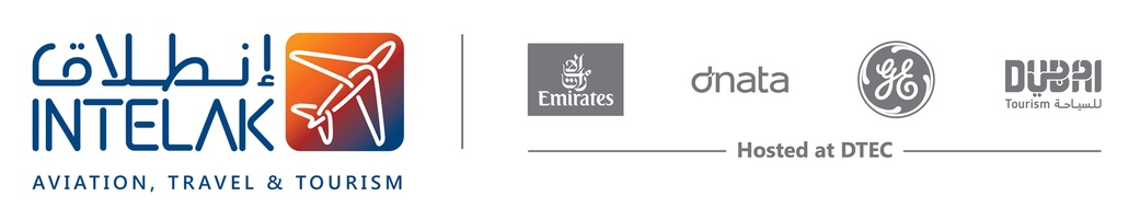 Intelak Travel Technology Incubator Logo with Emirates Group and Dubai Tourism