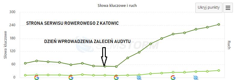 audyt strony internetowej serwisu rowerowego Katowice