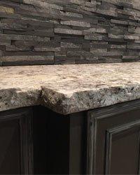 image of chiseled edge granite countertop