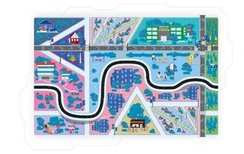 Praktyczna pomoc w nauczaniu, mata odwzorowuje system miejski.