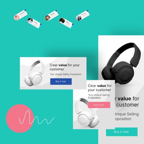 Obraz przedstawiający banery reklamowe  w sieci