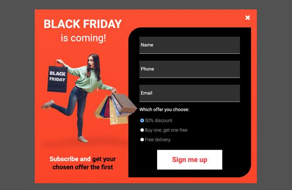 Black Friday – Lead generation