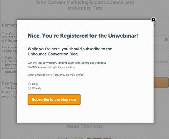 post conversion marketing unbounce