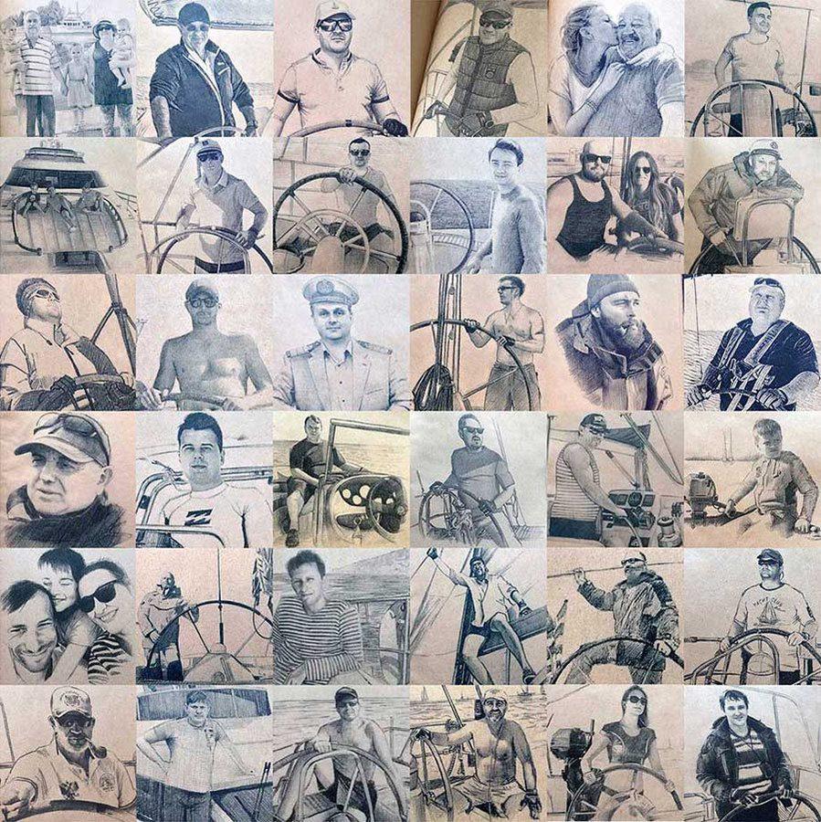 фотографии портретов выполненных для печати в именных логбуков