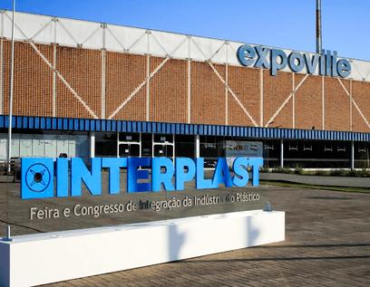 Fachada evento Interplast na Expoville