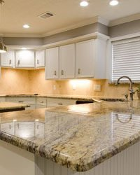 image of light granite countertops