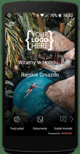Aplikacja mobilna hotelu w telefonie
